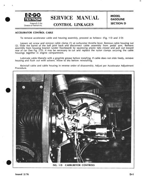 Product picture EZ GO GX440 GX444 REPAIR SERVICE MANUAL 1970-1990